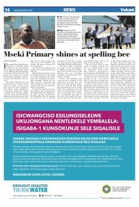 Vukani Newspaper: Mseki Primary Spelling Bee November 2017